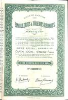 Action SA Emailleries & Tôleries Réunies , Gosselies 1944 - Actions & Titres