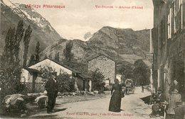 CPA - VIC-DESSOS (09) - Aspect De L'avenue D'Auzat En 1906 - Other Municipalities