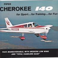 VP-GF.18-549 : PUBLICITE CATALOGUE AVION. 6 PAGES. AVIATION LEGERE CIVILE. AIRCRAFT CORPORATION. PIPER CHEROKEE 140 - Publicités