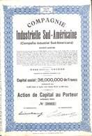 Titre Compagnie Industrielle Sud-Américaine (Compania Industrial Sud-Americana) + Coupons, Anvers 1944 - Non Classés