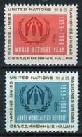United Nations 1959 Set Of Stamps To Celebrate World Refugee Year. - New York – UN Headquarters