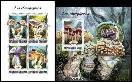 GUINEA REP. 2018 MNH** Mushrooms Pilze Champignons M/S+S/S - OFFICIAL ISSUE - DH1838 - Champignons