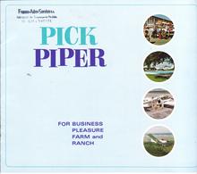 VP-GF.18-550 : PUBLICITE CATALOGUE AVION. 8 PAGES. AVIATION LEGERE CIVILE. AIRCRAFT CORPORATION. PICK  PIPER. - Publicités