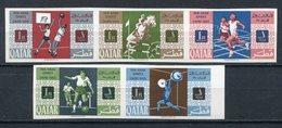 1966 - QATAR-  SPORTS- IMPERF.  - 5 VAL.- M.N.H. LUXE !!- - Qatar