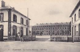 28. CHARTRES.  CPA . LA CASERNE MARCEAU. ANNÉE 1914 - Chartres