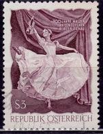 "Austria, 1967, ""Blue Danube"" Ballet Dancer, 3s, Sc#786, Used - 1945-.... 2. Republik"
