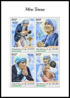 NIGER 2018 MNH** Mother Teresa Mutter Teresa Mere Teresa M/S - OFFICIAL ISSUE - DH1838 - Mère Teresa