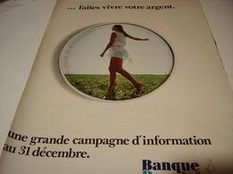 ANCIENNE PUBLICITE BANQUE POPULAIRE 1969 - Publicidad