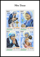 NIGER 2018 MNH** Mother Teresa Mutter Teresa Mere Teresa M/S - IMPERFORATED - DH1838 - Mère Teresa