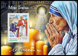 NIGER 2018 MNH** Mother Teresa Mutter Teresa Mere Teresa S/S - IMPERFORATED - DH1838 - Mother Teresa
