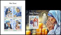 NIGER 2018 MNH** Mother Teresa Mutter Teresa Mere Teresa M/S+S/S - IMPERFORATED - DH1838 - Mother Teresa