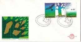 Nederland - FDC - Natuur En Milieu - Vogelbescherming/staatsbosbeheer/natuur En Milieu - NVPH E130 - Milieubescherming & Klimaat