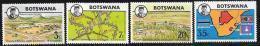 Botswana, Scott # 106-9 MNH University, Map, 1974 - Botswana (1966-...)