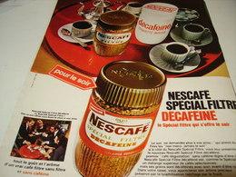 ANCIENNE PUBLICITE DECAFEINE  NESCAFE 1969 - Posters