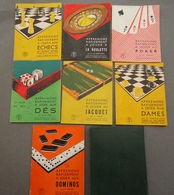 """Le Triboulet - Portefeuille Contenant 7 Livrets """"Apprenons Rapidement à Jouer"""" Jacquet,Dames, Dominos,Roulette,Poker,Dés - Jeux De Société"""