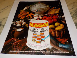 ANCIENNE PUBLICITE POTAGE CUISINES MAGGI 1969 - Affiches