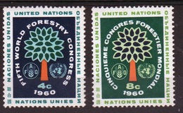 United Nations 1960 Set Of Stamps To Celebrate 5th World Forestry Congress. - New York – UN Headquarters