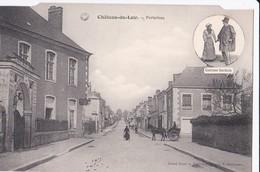 Carte 1910 CHATEAU DU LOIR / PORTAVEAU (médaillon Foklore) - Chateau Du Loir