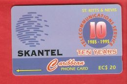 St. Kitts & Nevis Magnetic GPT Phonecard 15CSKA - St. Kitts En Nevis