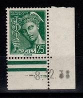 YV 411 N** Mercure Petit Coin Daté 08/12/38 - France