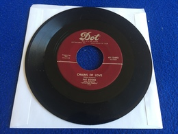 """45 RPM Dot: Record: PAT BOONE:  """"Friendly Persuasion"""" & """"Chains Of Love"""" - Rock"""