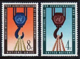 United Nations 1960 Set Of Stamps To Celebrate The World Bank. - New York – UN Headquarters