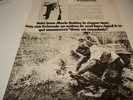 ANCIENNE PUBLICITE BATEAU MOTEUR EVINRUDE 1969 - Boats