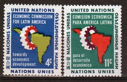 United Nations 1961 Set Of Stamps To Celebrate International Commission For Latin America. - New York – UN Headquarters