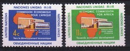 United Nations 1961 Set Of Stamps To Celebrate International Commission For Africa. - New York – UN Headquarters