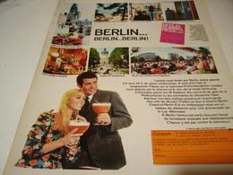 ANCIENNE PUBLICITE VOYAGE A  BERLIN 1969 - Publicidad