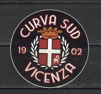 Stiker-Adesivo - Ultras Vicenza - Curva Sud 1902 - - Adesivi