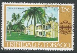 Trinidad & Tobago. 1976 Paintings, Hotels And Orchids. 15c Used. SG 484 - Trinidad & Tobago (1962-...)