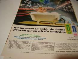 ANCIENNE AFFICHE PUBLICITE DOUCHE MASSAGE BADEDAS 1969 - Parfums & Beauté
