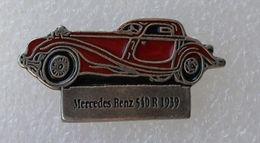 Pin's Mercedes Benz 540 R 1939 . Base Argentée - Mercedes