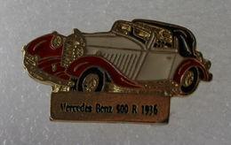 Pin's Mercedes Benz 500 R 1936 . Base Dorée - Mercedes