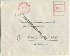 Brief Aus Altenburg (Thür) Vom 03.09.1945 Mit Aptiertem Postfreistempel In Rot - Sowjetische Zone (SBZ)