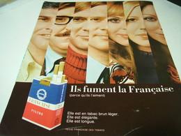 ANCIENNE PUBLICITE CIGARETTE FRANCAISE 1969 - Tabac (objets Liés)