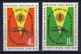 United Nations 1962 Set Of Stamps To Celebrate Malaria Eradication. - New York – UN Headquarters