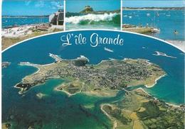 Cartes Géographiques - 22 - L'Ile Grande - 4 Vues - éditeur : JACK / 2378 - Cpm - Pas écrite - - Carte Geografiche