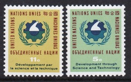 United Nations 1963 Set Of Stamps To Celebrate Science And Technology Conference. - New York – UN Headquarters