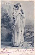 SOLEDAD PESTALARDO. ARTISTE. AUTOGRAPH SUR POSTCARD CIRCA 1900's. ORIGINAL- BLEUP - Autogramme & Autographen