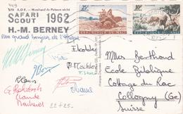 CPA Marchand De Poissons Sechés - Cachet Au Dos Safari Scout 1962 H. M. Berney - Timbres Du Mali N° 22 +25 - Scoutisme