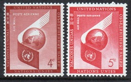United Nations 1957 Set Of Stamps To Celebrate Air. - New York -  VN Hauptquartier