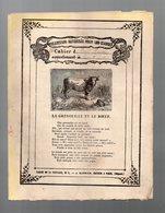 Cahier D'écolier Avec Couverture Illustrée : Fables De La Fontaine N° 3 La Grenouille Et Le Boeuf (PPP9431) - Animaux