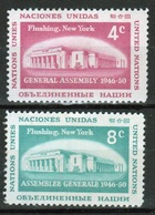 United Nations 1959 Set Of Stamps To Celebrate UN General Assembly Buildings. - New York – UN Headquarters