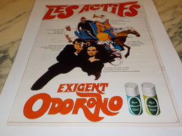 ANCIENNE PUBLICITE STICK ODORONO DE FERET FRERE  1969 - Parfums & Beauté