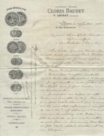 Facture - Cloris Baudet - Archat Successeur - Appareils électriques - Piles Moteurs, Poudre Préservatrice - Paris 1903 - France