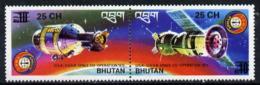 Bhutan 1978 Apollo-Soyuz (se-tenant Pair) From Prov Surcharge Set SPACE Only 2,600 Sets Issued U/m, SG 402-403, Mi 697-9 - Bhutan