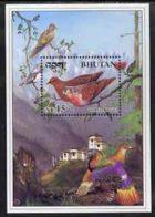 Bhutan 1998 Turtle Dove 15nu M/sheet U/m BIRDS - Bhutan