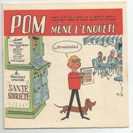 Bd Concours Santé Sobriété  Pom Mene L'enquete 16 Pages Mickey Spirou Vaillant Pilote - Livres, BD, Revues